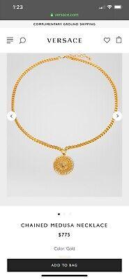 Versace medusa necklace chain- Authentic! MSRP $775 + Tax