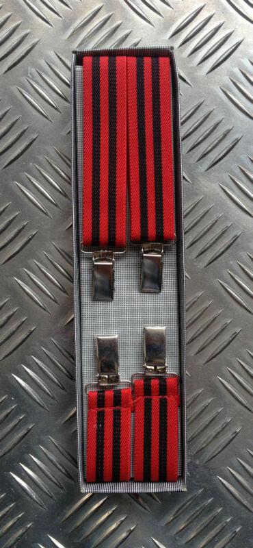Retro Vintage Unisex Slim Clip-on Elastic Braces / Suspenders. Adjustable - New