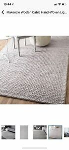 Wool cable hand woven braided Area rug