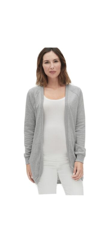 Gap Maternity Raglan Cocoon Cardigan, Size S, Heather Grey, Sweatshirt, New