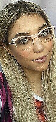 New Versace Mod. Pink 51mm Cats Eye Pink Women's Eyeglasses Italy (Pink Versace Glasses)