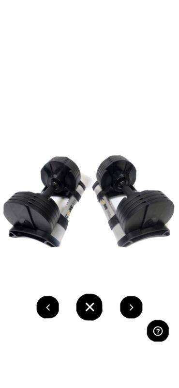 Core Home Fitness Twistlock Adjustable Dumbbells 5-50 lbs (SET) SHIPS SAME DAY!