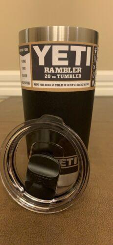 YETI BLACK Rambler 20 oz Vacuum Insulated Tumbler w/MagSlide