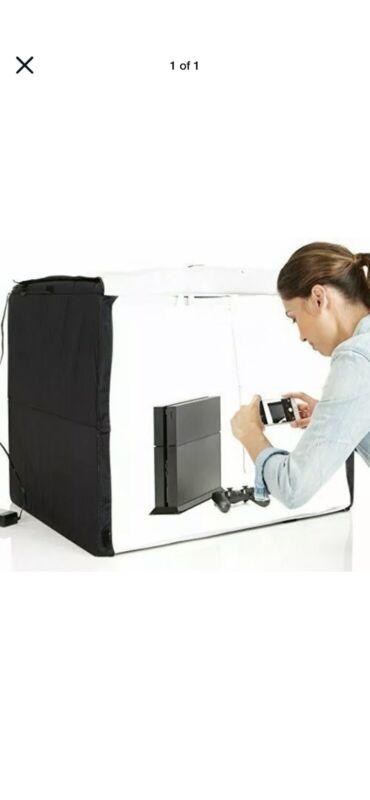 AmazonBasics Portable Foldable Photo Studio Box with LED Light - 25 x 30 x 25...