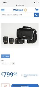 Nikon d3400 with two lens! (Like new)