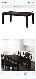 Stornas table from ikea Brown-Black