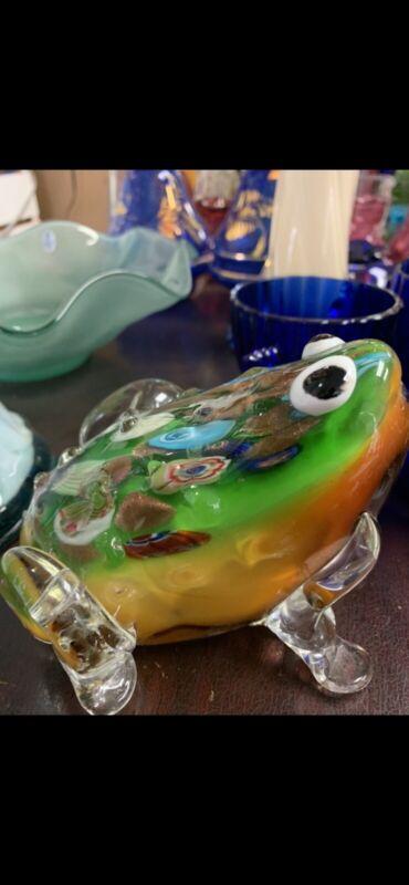 Vintage Murano Glass Frog