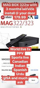 Iptv world live tv Magbox 322w wifi box we install at ur home