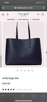 Kate Spade New York Molly Leather Large Tote Bag, Black £225rrp
