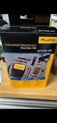 New Fluke 87ve2 Electrician Combo Kit True-rms Multimeter W Temperature 87v-v