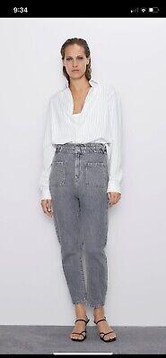 Zara Paperbag Jeans Size 10