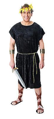 Herren Römisch Kostüm schwarz grichischer Spartaner Tunika Herrenabend Outfit M/
