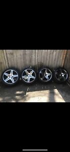 Benz rims with tires