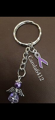 Alzheimers/Dementia/Epilepsy Awareness or Support Keyrings/Bag Charms