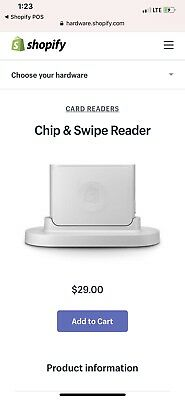 Brand New Shopify Credit Card Reader Chip And Swipe Bluetooth P.o.s.