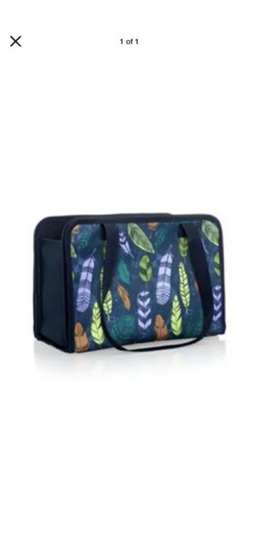 NIP Thirty One 31 Get Creative Caddy FALLING FEATHERS Storage Carry All NEW