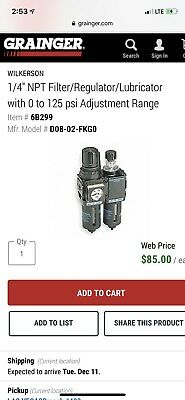 Filterregulatorlubricator14 In. Npt Wilkerson D08-02-fkg0