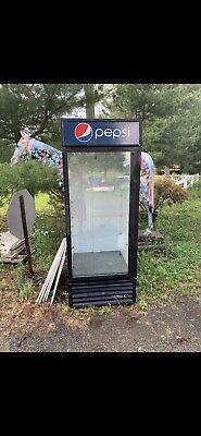 Pepsi Cola Glass Door True Cooler Clean Condition Needs Compressor.