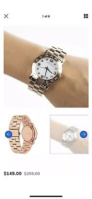 Authentic Marc by Marc Jacobs MBM3127 Rose Gold Stainless Steel Women's Watch