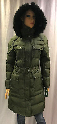 NEW RALPH LAUREN QUILTED HOODED DOWN PUFFER COAT SZ S SMALL