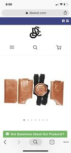 LD West Tan Cell phone and wallet Holster