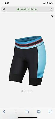 Women's Pearl Izumi  Elite Pursuit Padded Cycling Shorts S Small Atomic Blue