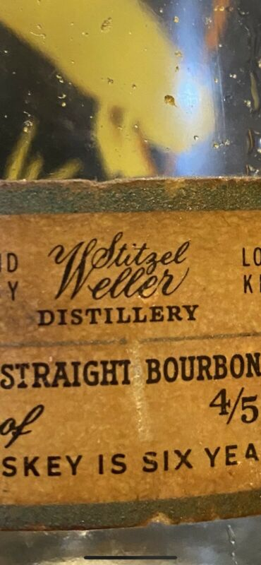 Vintage Stitzel Weller Distillery Mallard Duck Glass Decanter No Top