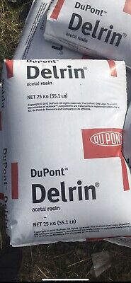 New 55lbs Dupont Delrin Acetal Resin Uv-stabilized Injection Molding Plts Blck