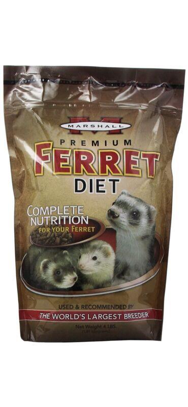 Marshall Premium Ferret Food High Protein Diet XL 4lb Bag 03/22 FAST SHIP SAVE $