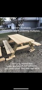 Picnic Tables 7ft Very Well Built