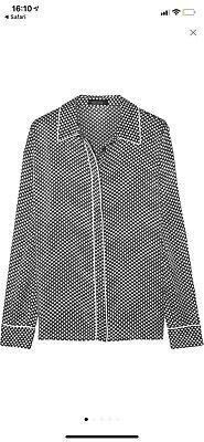 Kate Moss for Equipment's 'Shiloh' 100% Silk Star Print Blouse Size S UK 8-10