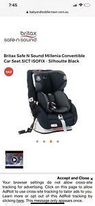Britax Millenia car seat cover
