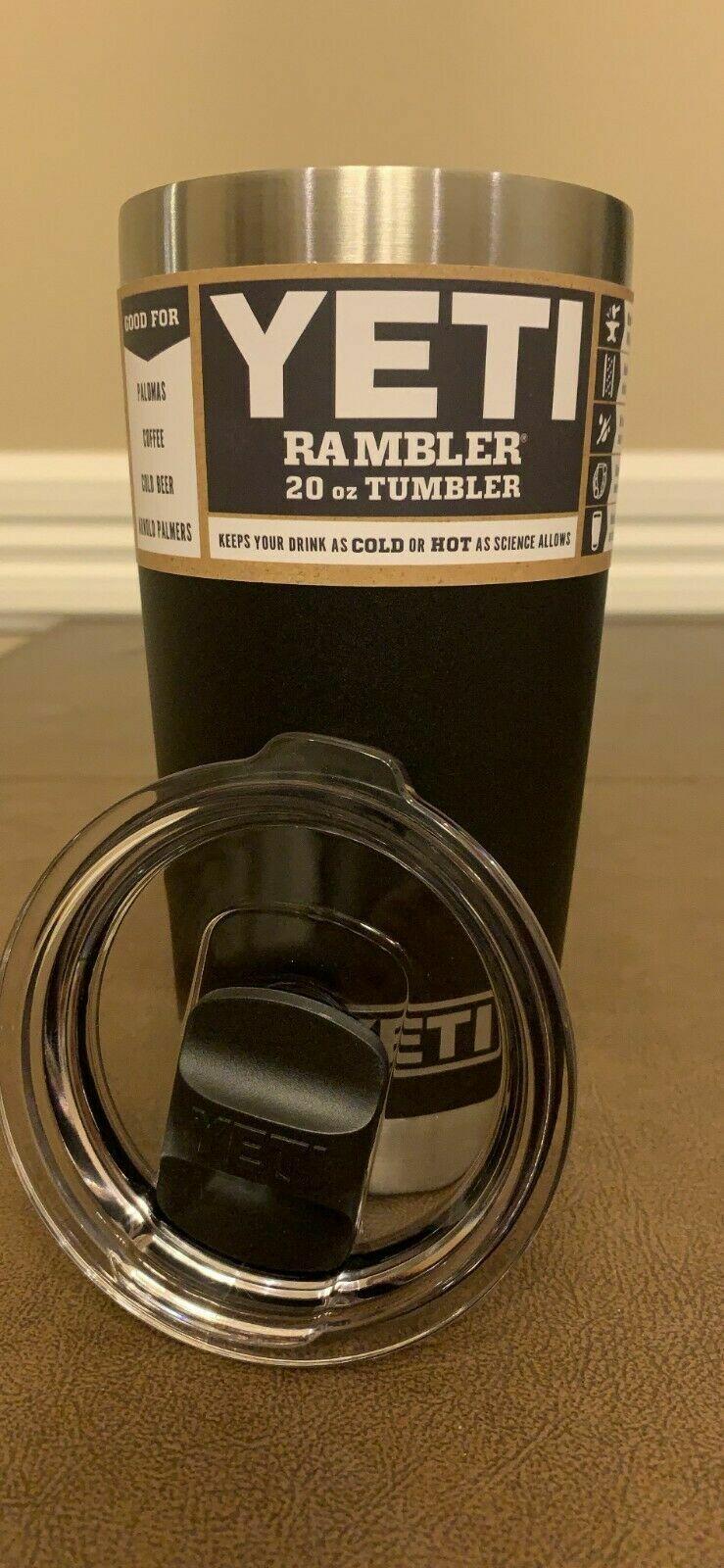 YETI BLACK Rambler STEEL 20 oz Vacuum Insulated Tumbler w/MagSlider Lid