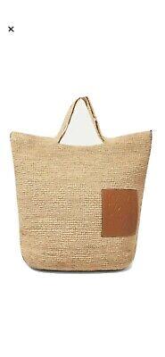 Loewe Raffia Tan Leather Shoulder Bag Large