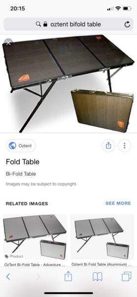 oztent bifold table melamine