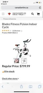 Stationary Bike for Cycling or Spin