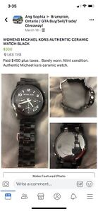 BLACK CERAMIC MICHAEL KORS WATCH
