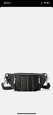 Zara Black Zipper Fanny Pack