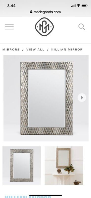 Made Goods Killian Mirror Capiz Shell
