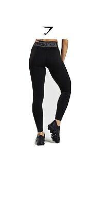Gymshark Women's Flex High Waisted Legging Black/Charcoal, Size Large