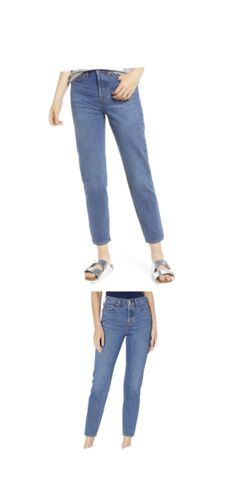 Levi's Wedgie Icon Fit Blue High Waist Button Fly Ankle Je
