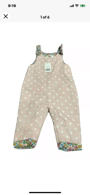 Boden Baby Girl Pink Overalls