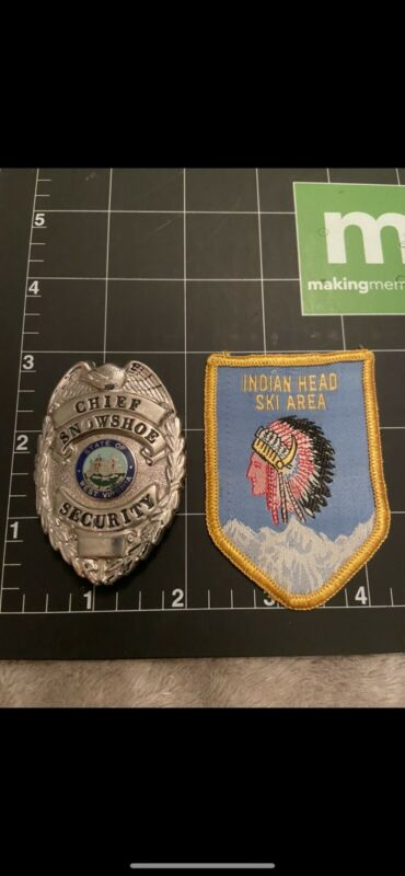 vintage obsolete police security patch and badge retired
