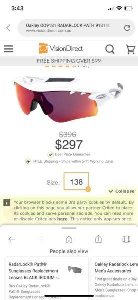fa6633d976 ... amazon perth wa 0cbab 4a131 new zealand oakley radarlock glasses with  case accessories gumtree australia 43a8b
