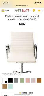 replica eames group standard aluminium chair cf. Matt Blatt Replica Eames Aluminium Office Desk Chair White Group Standard Cf -