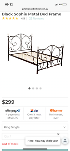 Girls King Single bed