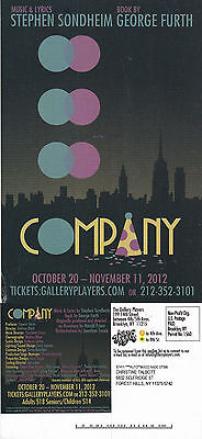 COMPANY - THE MUSICAL ADVERTISING COLOUR POSTCARD