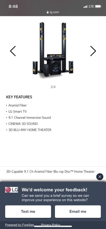 Lg 1460 Watts 9.1 Home theater System Premium Sound ,3D Blu-ray