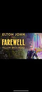 Elton John Farewell Yellow Brick Road Oct 22nd