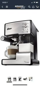 New Oster coffee, cappuccino, latte maker, barista, prima latte
